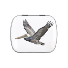 Pelican Flying Candy Tin, Pill or Stash Box Jelly Belly Candy Tin at Zazzle