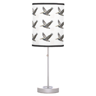 Pelican Flying Patterned Lampshade Desk Lamp
