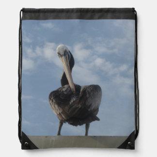 Pelican from Peru Drawstring Backpack