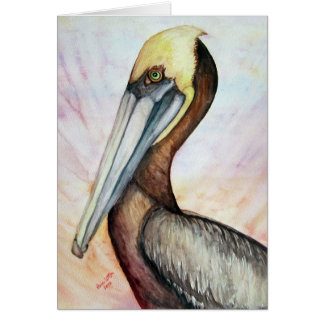 pelican good vibes greeting card