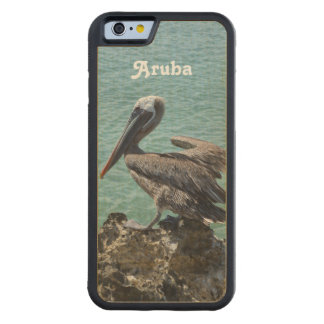 Pelican in Aruba Carved® Maple iPhone 6 Bumper Case