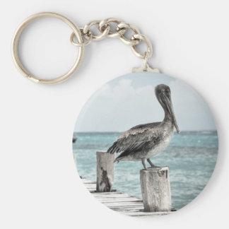 PELICAN IN BRIEF: CHILLIN'! (a shore bird design) Keychain