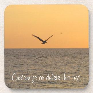 Pelican in Flight; Customizable Coaster