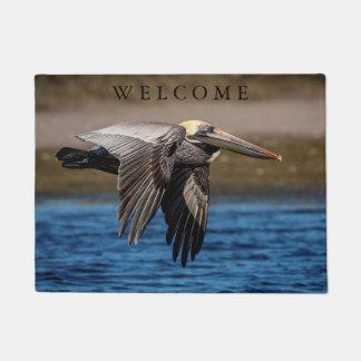 Pelican in flight doormat