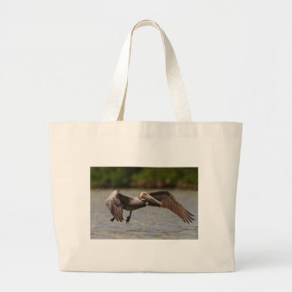 Pelican in Flight Jumbo Tote Bag