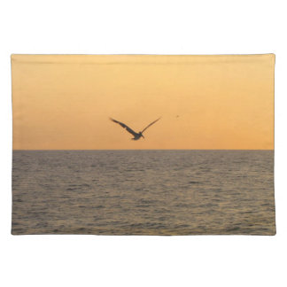 Pelican in Flight; No Greeting Placemat