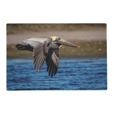 Pelican in flight placemat