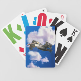 Pelican in Flight Playing Cards