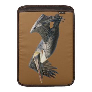 Pelican in Flight Rickshaw Sleeve MacBook Sleeves