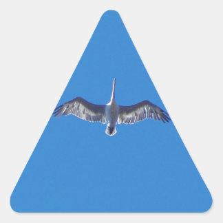 Pelican In Flight Triangle Sticker