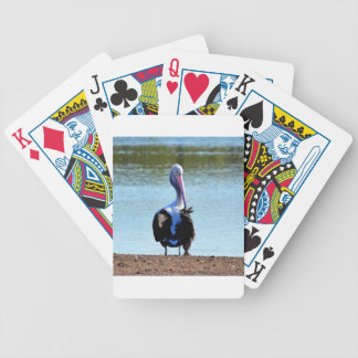 PELICAN IN RURAL QUEENSLAND AUSTRALIA BICYCLE PLAYING CARDS