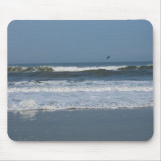 Pelican in the surf mouse pad