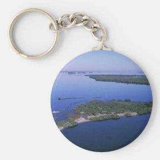Pelican Island Basic Round Button Keychain