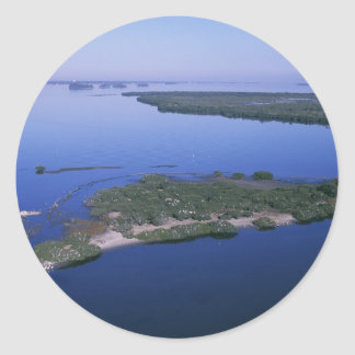 Pelican Island Classic Round Sticker