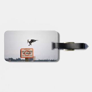 pelican landing on channel sign in florida luggage tag