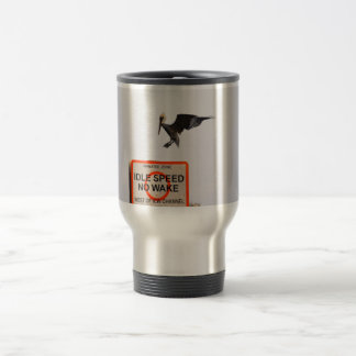 pelican landing on channel sign in florida 15 oz stainless steel travel mug
