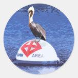 Pelican Lifeguard Round Sticker