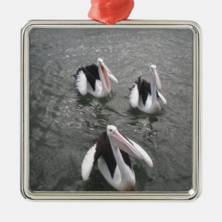 Pelican Metal Ornament