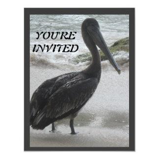 Pelican Ocean Beach Party Invitation