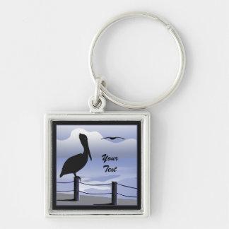 Pelican Ocean Shoreline Custom Premium Keychain