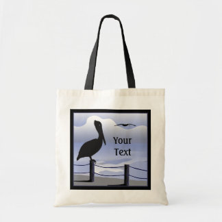 Pelican Ocean Shoreline Tote Bag