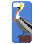 Pelican on a Piling at the Dock iPhone 5 Cover