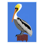 Pelican on a Piling Invitations