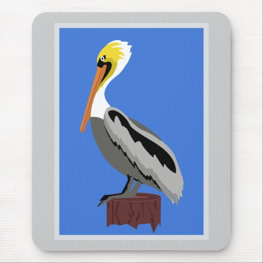 Pelican on a Piling Mouse Pad
