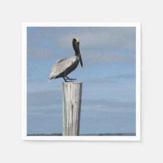 Pelican on a Post Napkins