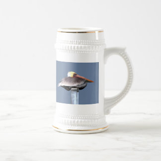 Pelican on a Stick Beer Stein