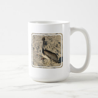 Pelican on Beach  Coffee Mug