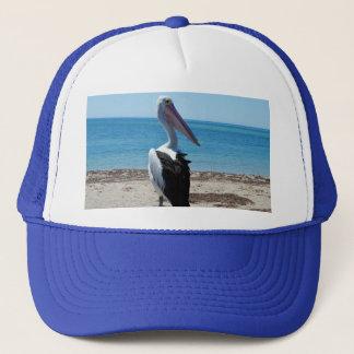 Pelican On Beach Rock, Trucker Hat