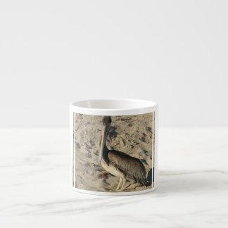 Pelican on Beach Specialty Mug 6 Oz Ceramic Espresso Cup