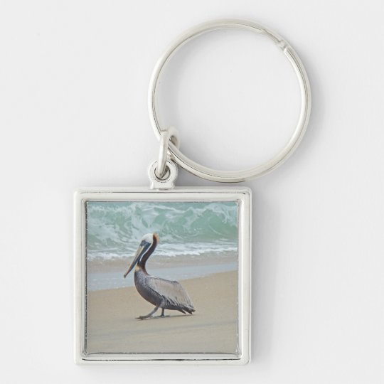 Pelican on Outer Banks OBX NC Keychain