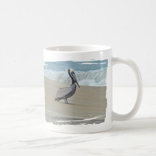 Pelican on Outer Banks OBX NC Classic White Coffee Mug