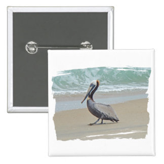 Pelican on Outer Banks OBX NC Pinback Button