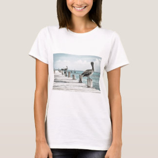 Pelican on Pier T-Shirt