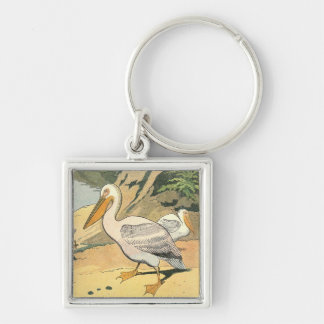 Pelican on the Beach Key Chains