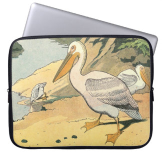 Pelican on the Beach Laptop Computer Sleeve