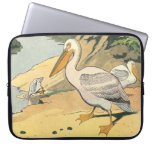 Pelican on the Beach Laptop Computer Sleeves