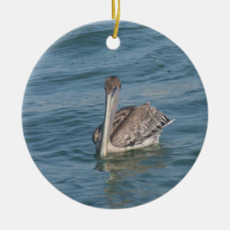 Pelican on the Inter-Coastal Ceramic Ornament
