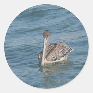 Pelican on the Inter-Coastal Classic Round Sticker