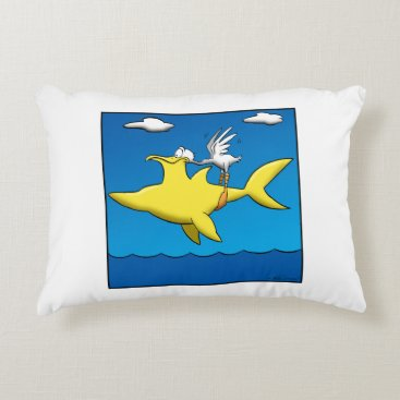 Beach Themed Pelican Pains Accent Pillow