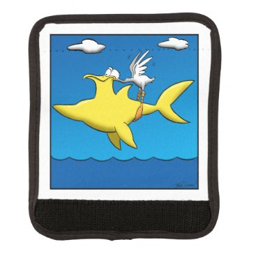 Beach Themed Pelican Pains Luggage Handle Wrap
