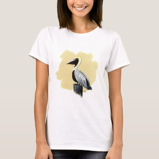 pelican painting sketch on all items T-Shirt
