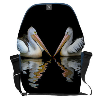 PELICAN PAIR (Australian pelican) ~ Messenger Bag