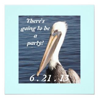 Pelican Party Invitation