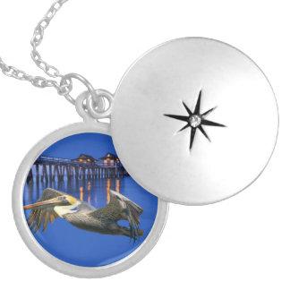 Pelican Pier Round Locket Necklace