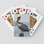 """Pelican Playing Cards<br><div class=""""desc"""">Love the shore? This deck of pelicans reminds me of days on a deck at the shore.  A great gift for that shore house,  whether its yours or a thank you for someone who lets you use theirs!</div>"""