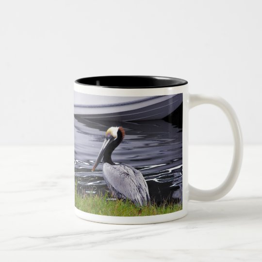 Pelican Poser Two-Tone Coffee Mug